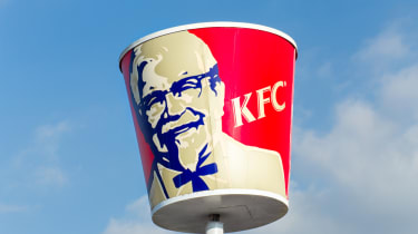 KFC sign in the shape of a bucket