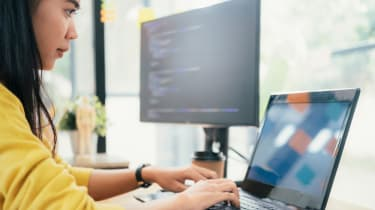 Female software developer
