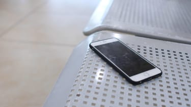 Phone left on public seat