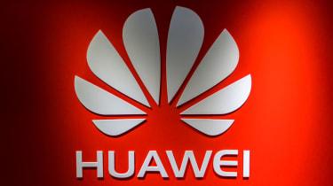Huawei Logo - red background