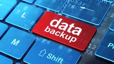 Backup data button on a keyboard