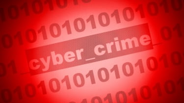 Cyber crime posted within binary code