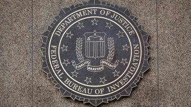 FBI, DOJ badge on a crest