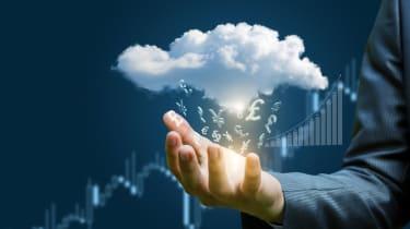 cloud, money, costs, hand, pound, budget