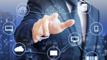 IT infrastructure digital illustration