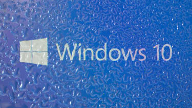 The Windows 10 logo displayed on a surface