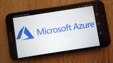 Microsoft Azure splash screen on a smartphone