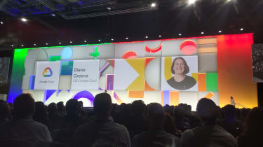 Diane Green on stage at Google Cloud Next
