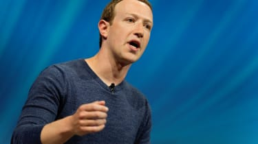 Mark Zuckerberg speaking at an event
