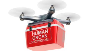 Organ delivery drone