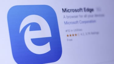 Microsoft Edge webpage from an angle