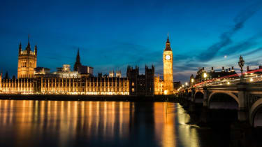 Houses of parliament UK at night