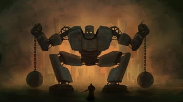 David vs evil robot Goliath