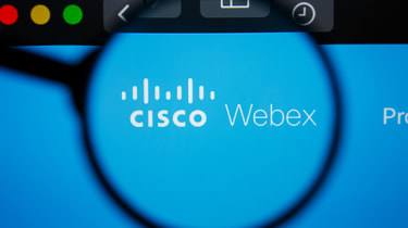 Cisco Webex logo under a magnifying glass