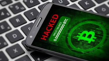 Hacked bitcoin wallet